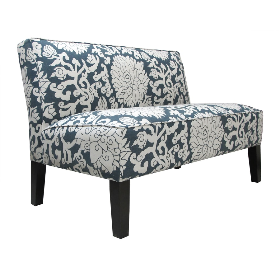 Skyline Furniture Clark Collection Smoke Textured Cotton Settee
