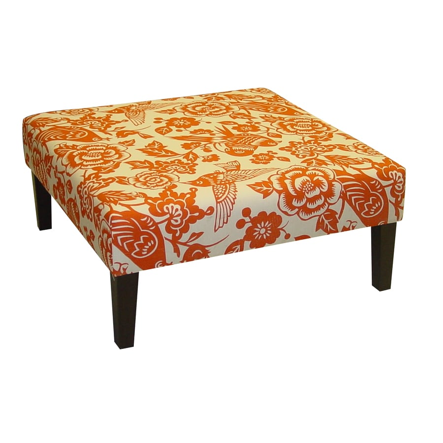 Skyline Furniture Fullerton Collection Tangerine Square Ottoman