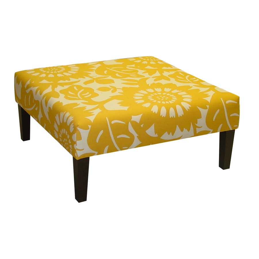 Skyline Furniture Fullerton Collection Sungold Square Ottoman