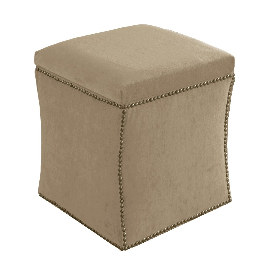 Skyline Furniture Armitage Collection Buckwheat Velvet Ottoman