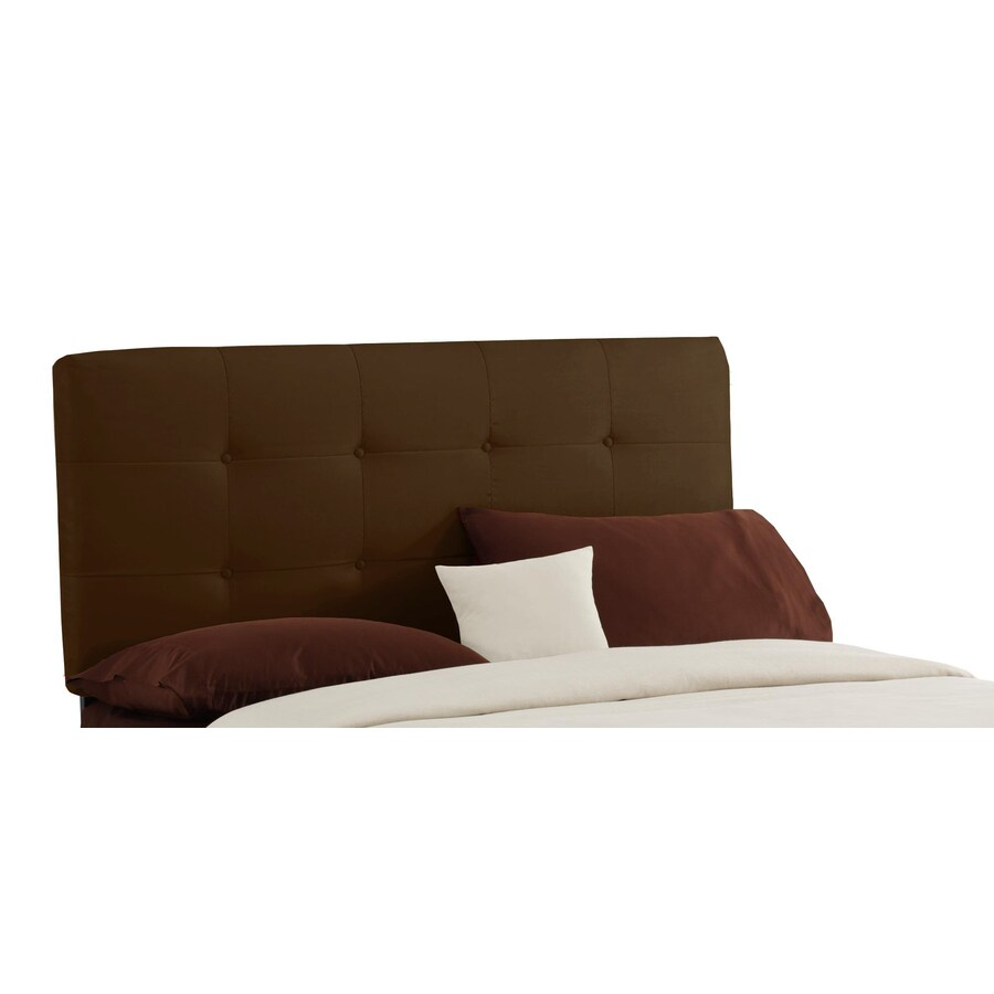 Skyline Furniture Sheridan Collection Chocolate Full Microsuede Headboard