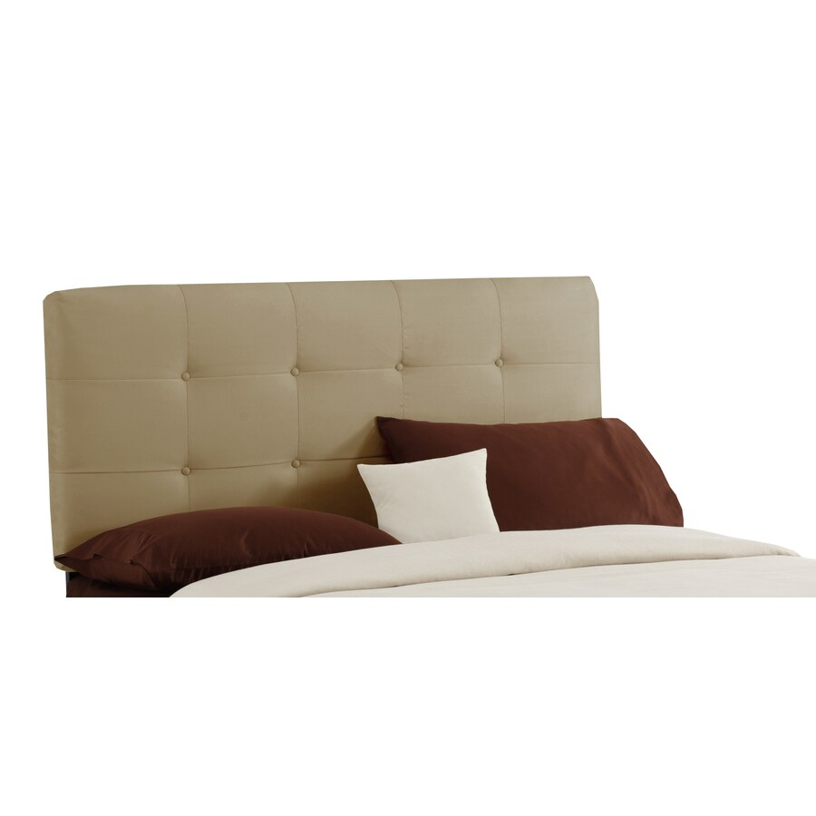Skyline Furniture Sheridan Collection Saddle Queen Microsuede Headboard