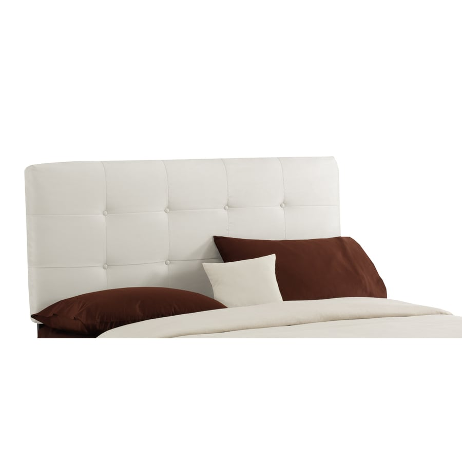 Skyline Furniture Sheridan White Queen Microsuede Headboard