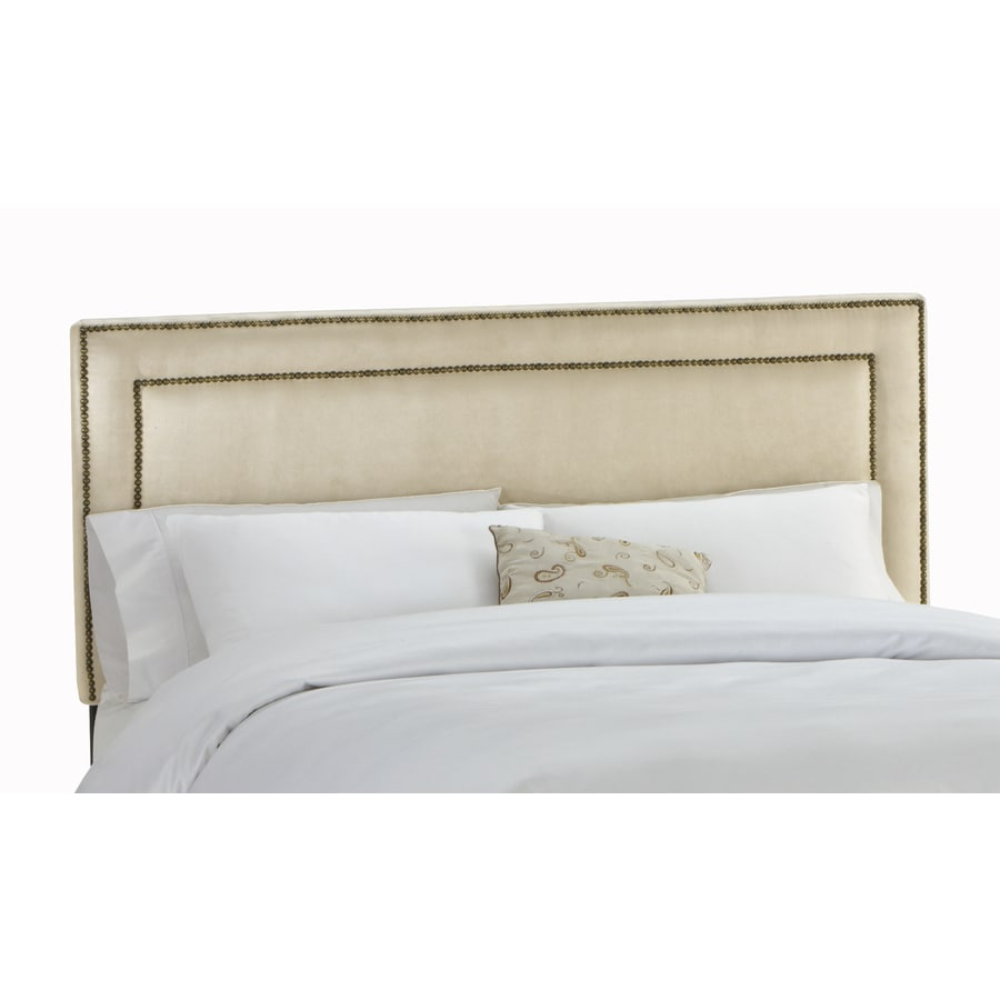 Skyline Furniture Wellington Collection Oatmeal King Microsuede Headboard