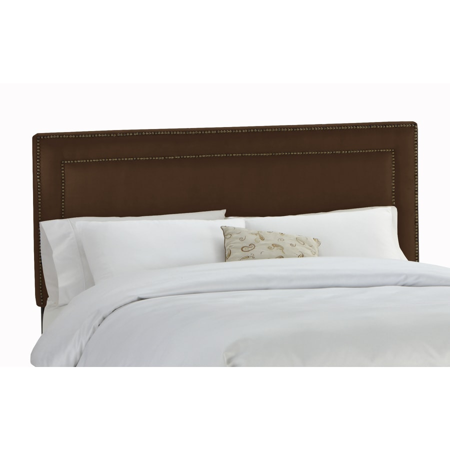 Skyline Furniture Wellington Collection Chocolate Queen Microsuede Headboard