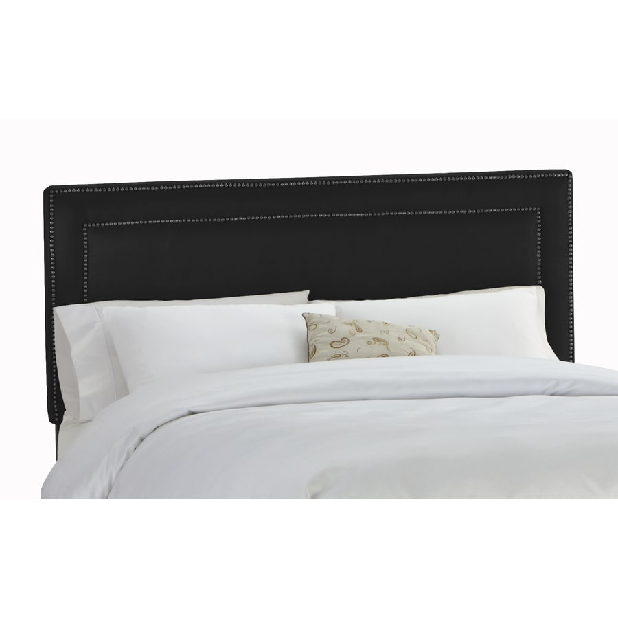 Skyline Furniture Wellington Black Full Microsuede Headboard