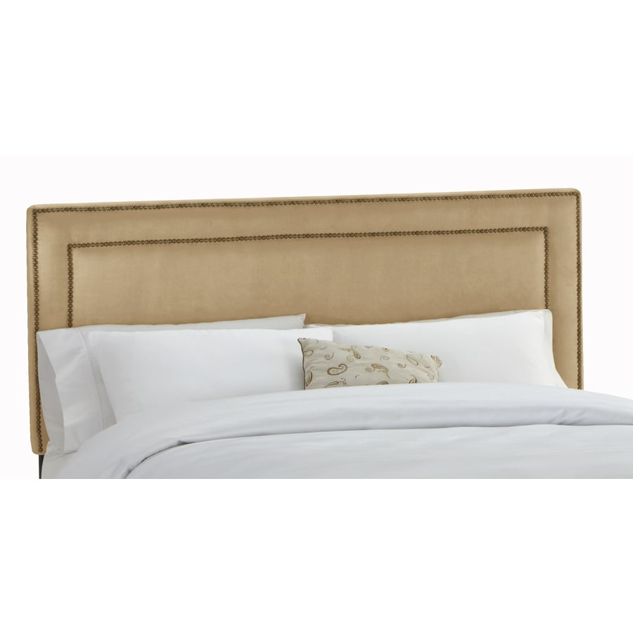 Skyline Furniture Wellington Saddle King Microsuede Headboard