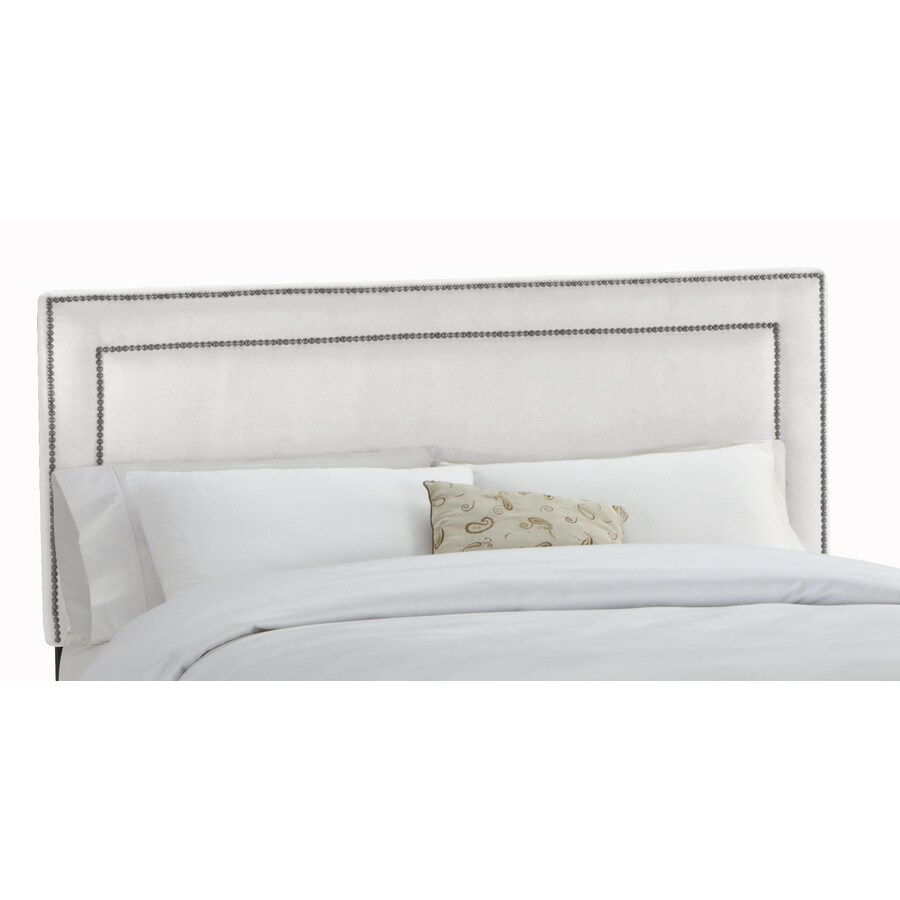 Skyline Furniture Wellington White Twin Microsuede Headboard