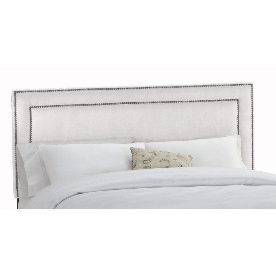 Skyline Furniture Wellington White Full Microsuede Headboard