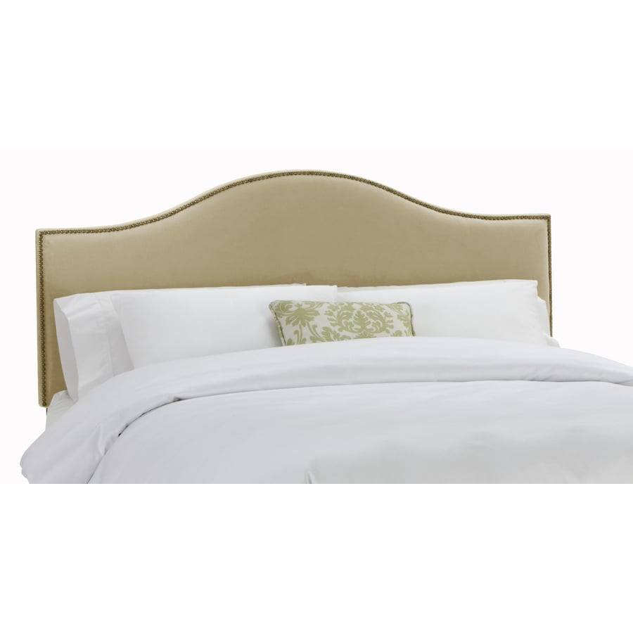 Skyline Furniture Armitage Collection Buckwheat Twin Velvet Headboard