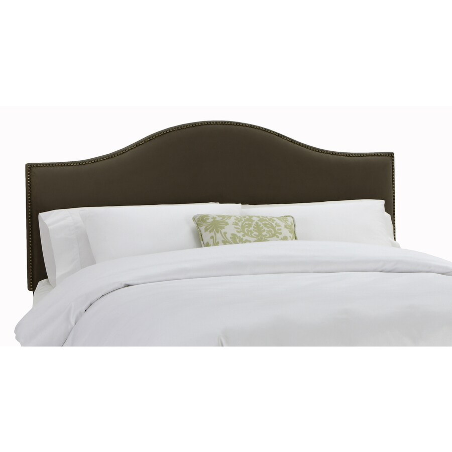 Skyline Furniture Armitage Collection Chocolate Twin Velvet Headboard