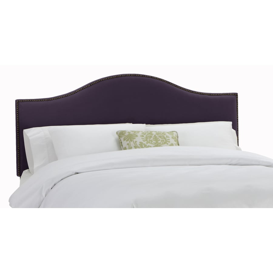 Skyline Furniture Armitage Aubergine Queen Velvet Headboard