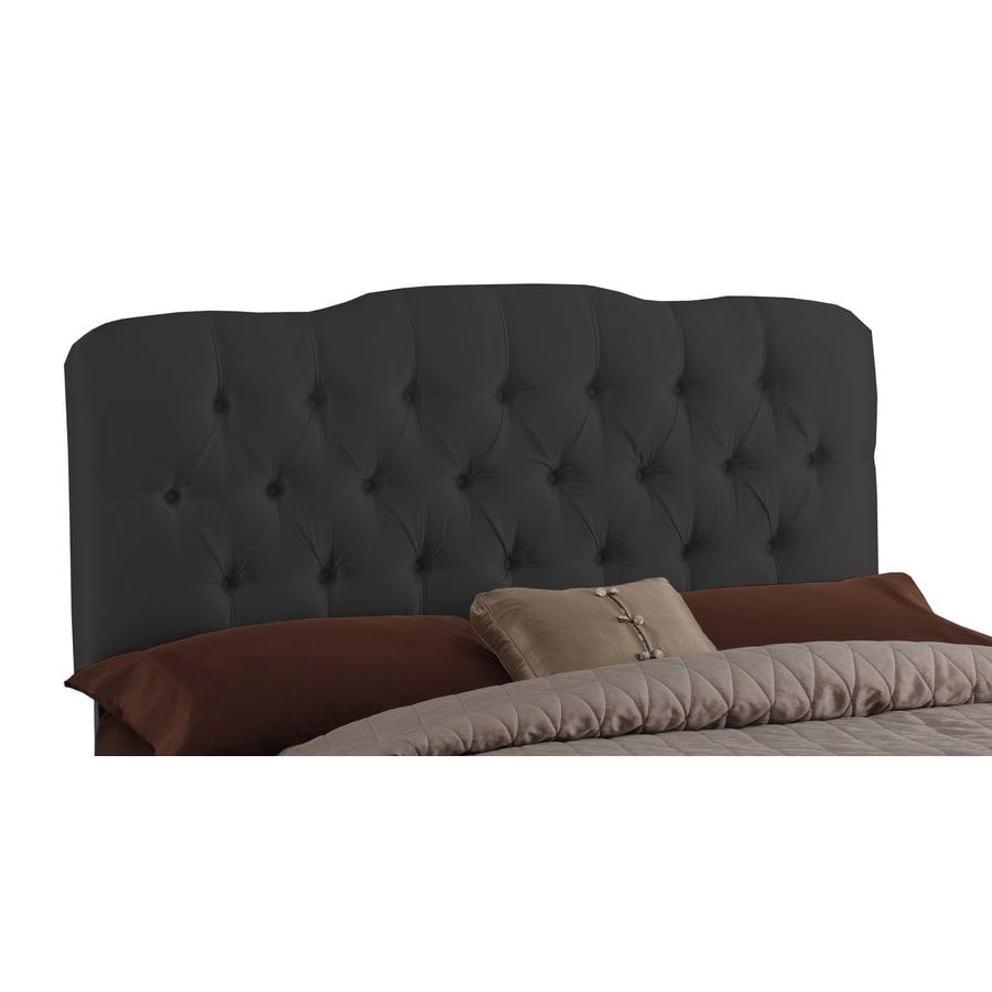 Skyline Furniture Quincy Black Queen Textured Cotton Headboard