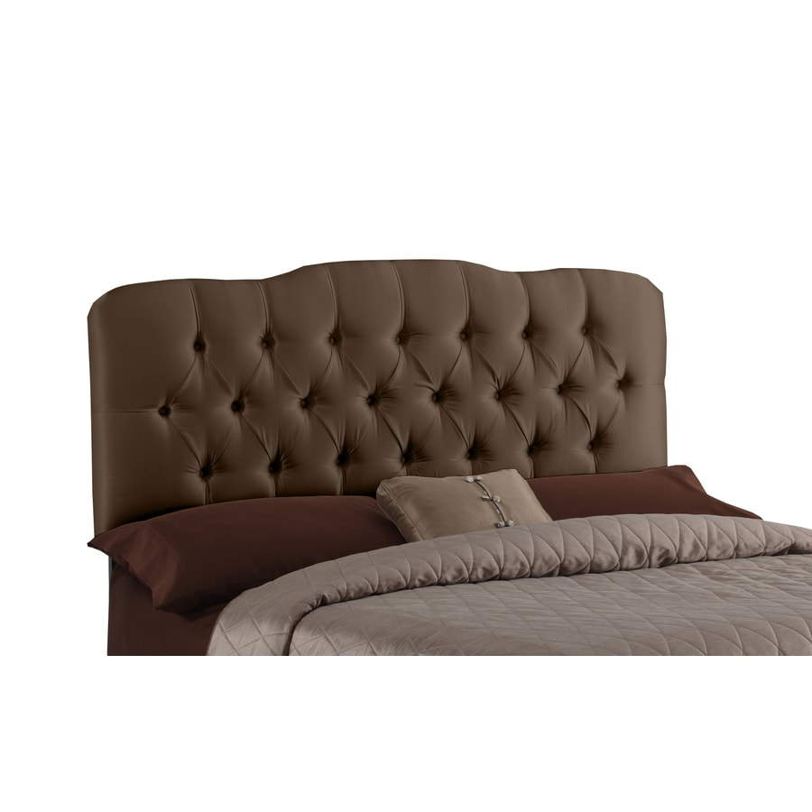 Skyline Furniture Quincy Collection Chocolate Queen Textured Cotton Headboard