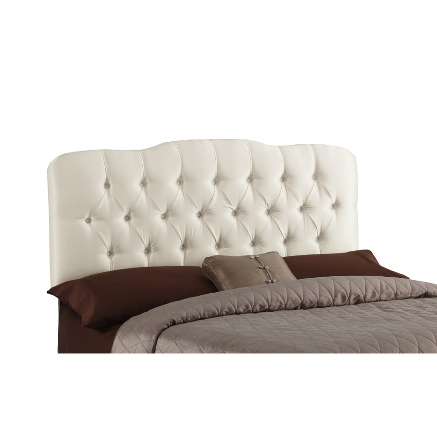 Skyline Furniture Quincy Collection Pearl Twin Textured Cotton Headboard