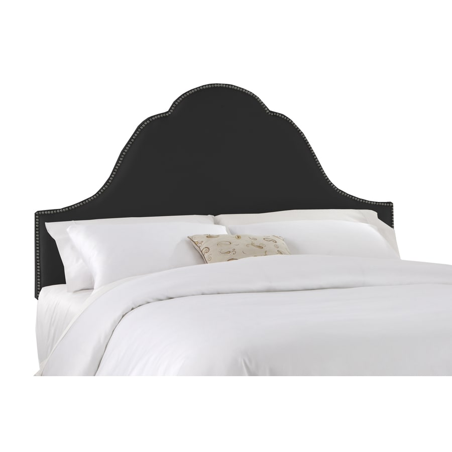 Skyline Furniture Clybourn Black Queen Textured Cotton Headboard