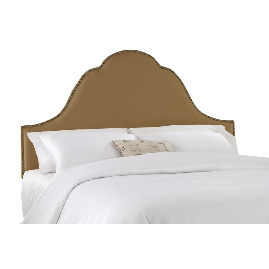 Skyline Furniture Clybourn Collection Khaki King Textured Cotton Headboard