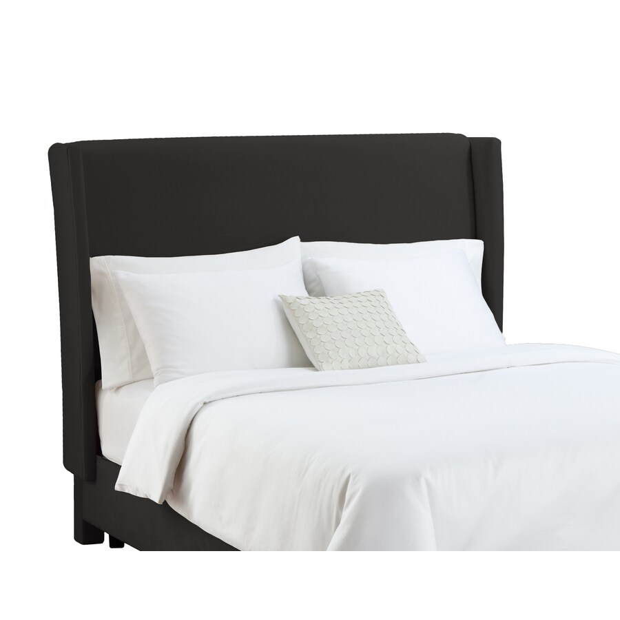 Skyline Furniture Diversey Black California King Velvet Headboard