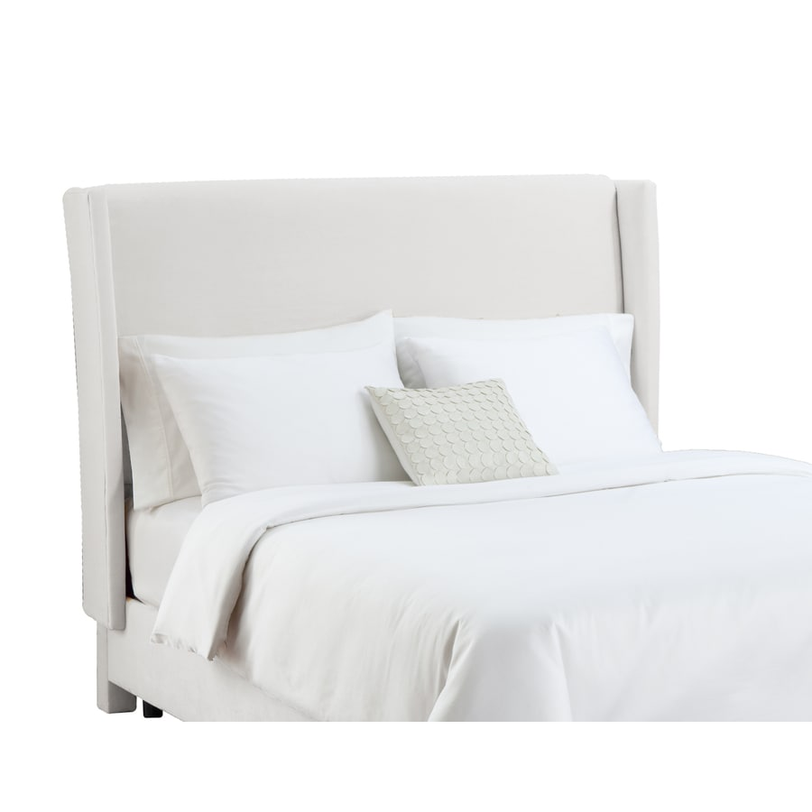 Skyline Furniture Diversey White King Velvet Headboard