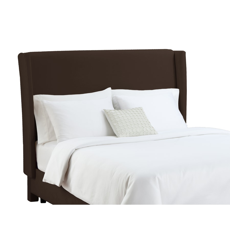 Skyline Furniture Diversey Collection Chocolate Queen Velvet Headboard