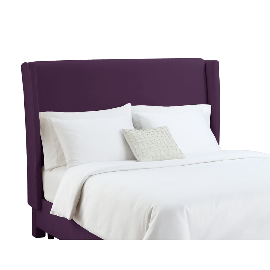 Skyline Furniture Diversey Collection Aubergine Queen Velvet Headboard