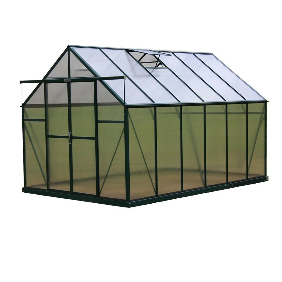 Grandio Greenhouses 12-ft L x 8-ft W x 7.75-ft H Permanent Greenhouse