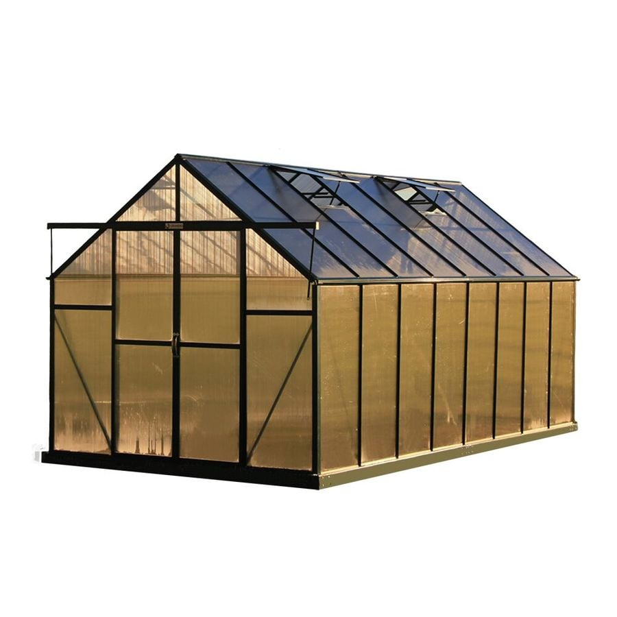 Grandio Greenhouses 16-ft L x 8-ft W x 7.75-ft H Permanent Greenhouse
