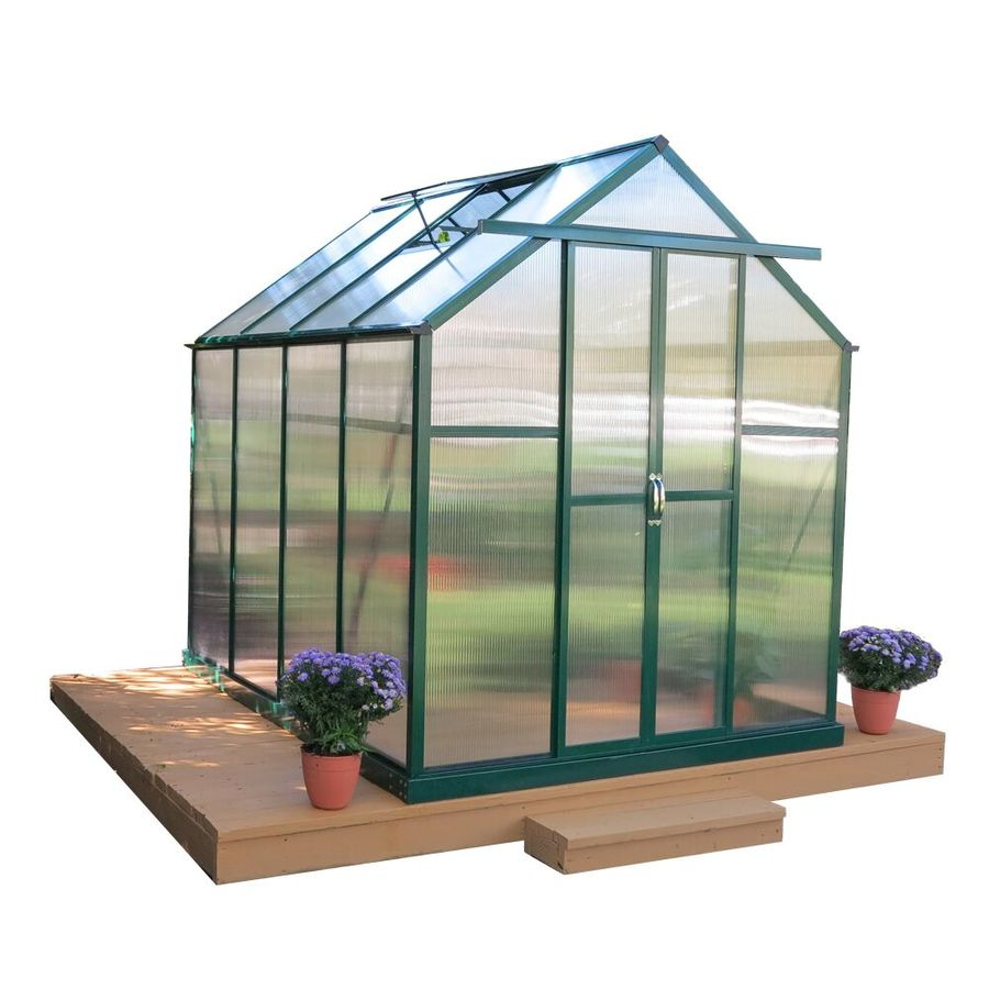 Grandio Greenhouses 12-ft L x 6-ft W x 7-ft H Greenhouse