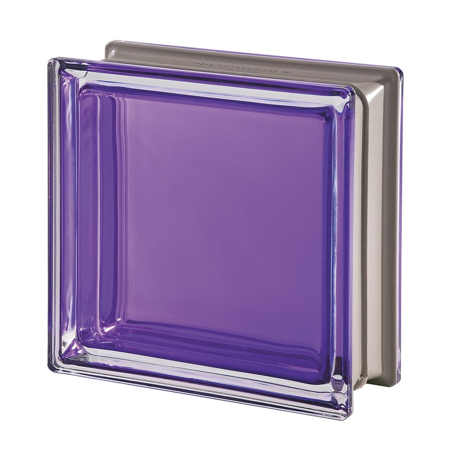 Design It Mendini 5-Pack Glass Block (Common: 8-in H x 8-in W x 3-in D; Actual: 7.5000-in H x 7.5000-in W x 3.1500-in D)