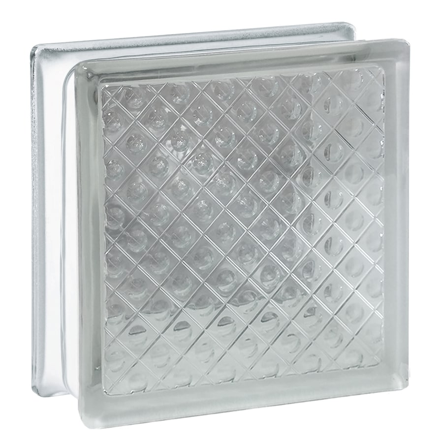 REDI2SET 10-Pack Glass Block (Common: 8-in H x 8-in W x 3-in D; Actual: 7.7500-in H x 7.7500-in W x 3.1200-in D)
