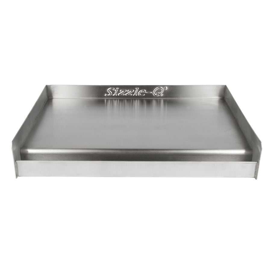 shop sizzle q stainless steel grill top griddle with cleaning kit at. Black Bedroom Furniture Sets. Home Design Ideas