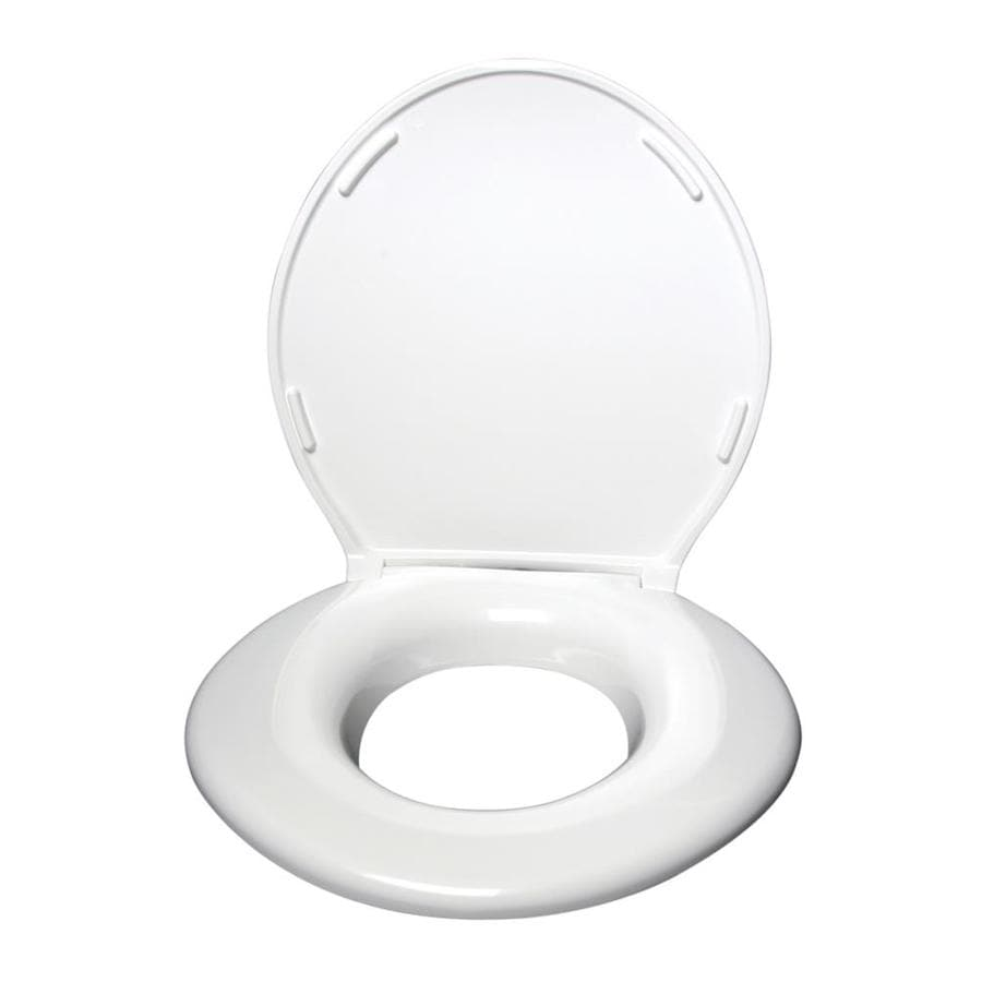 Round Toilet Seat Trimmer Pearl White Round Seashell