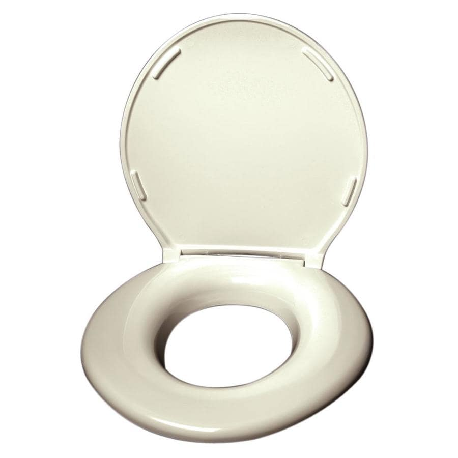 Big John Products Cream Plastic Elongated Toilet Seat