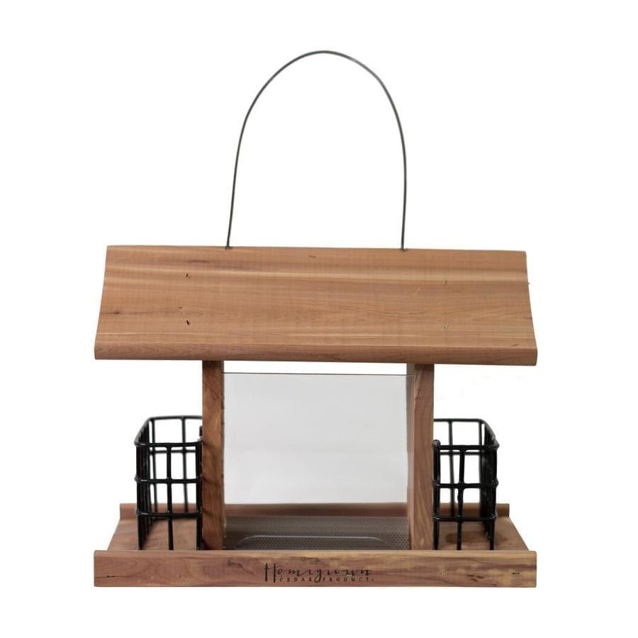 HomeGrown Cedar Hopper Bird Feeder