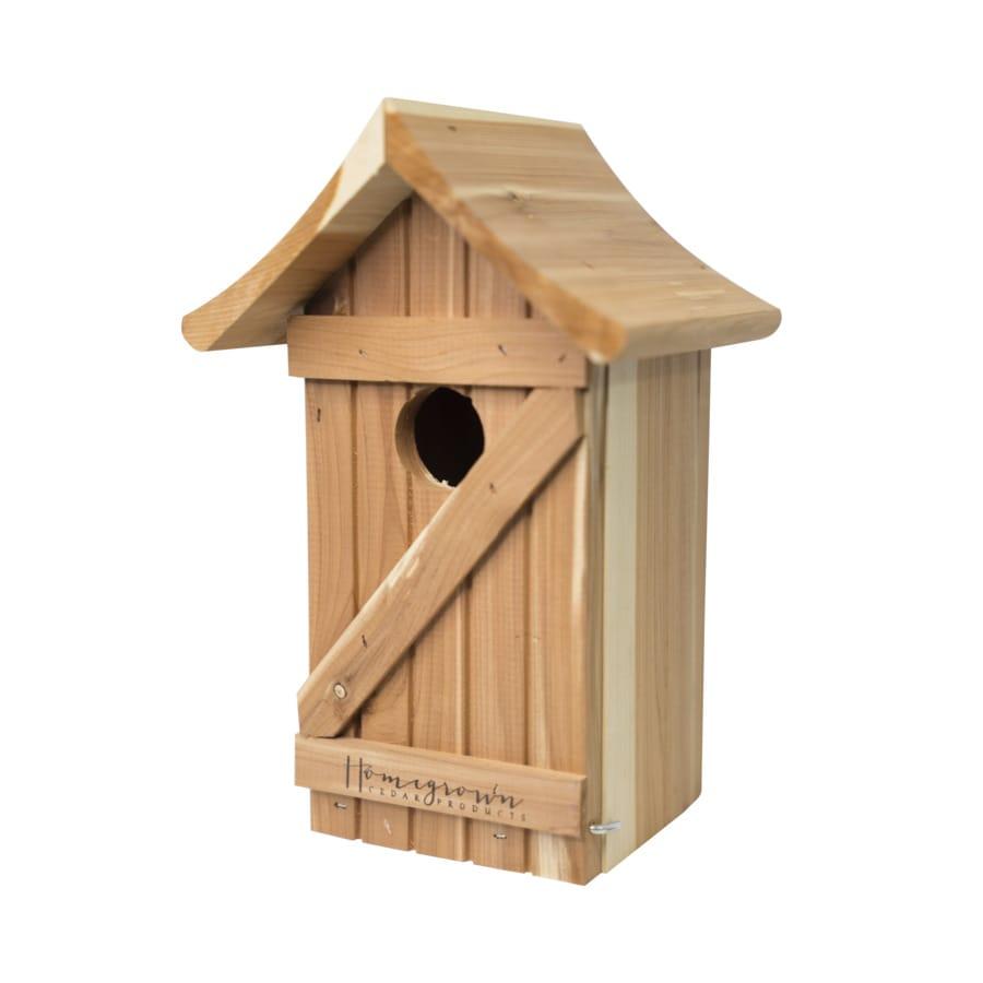 6.75-in W x 10.875-in H x 6.5-in D Cedar Bird House