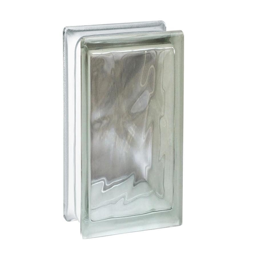 Shop seves glass block glass block common 8 in h x 4 in for Glass blocks for crafts lowes