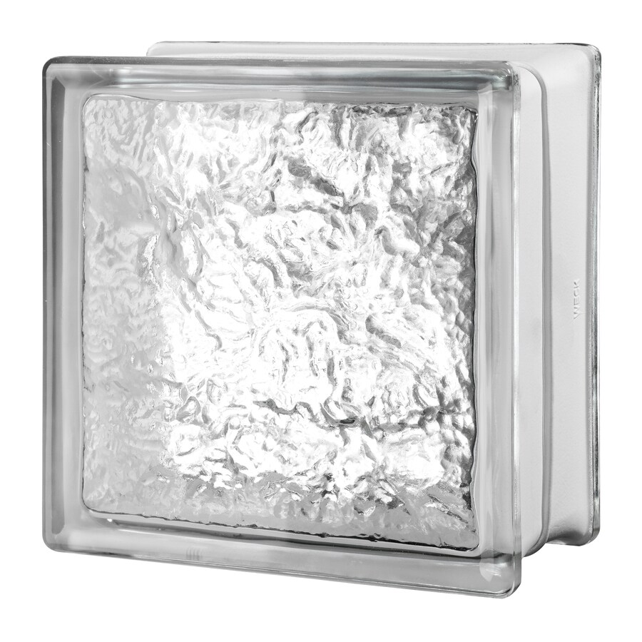 Shop seves clear ice glass block common 8 in h x 8 in w for Acrylic glass blocks