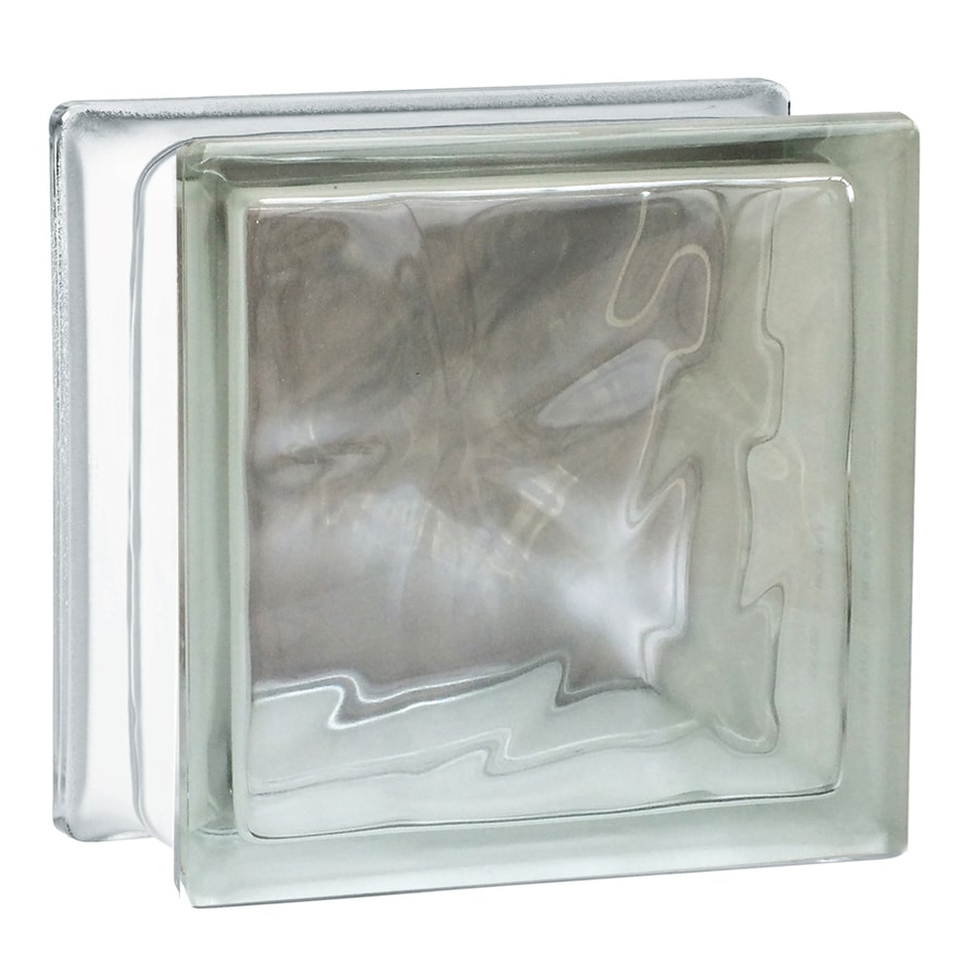 SEVES Nubio Clear Wave Glass Block (Common: 8 In H X 8
