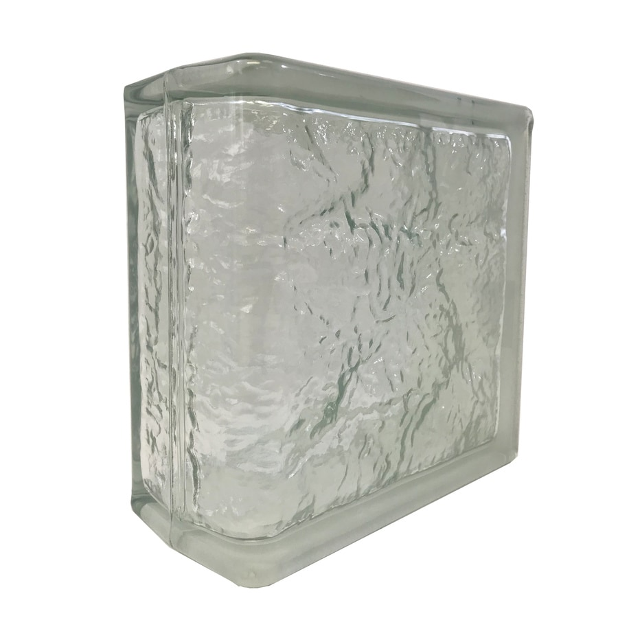 SEVES Glass Block 4-in Glass Block (Common: 8-in H x 8-in W x 4-in D; Actual: 7.75-in H x 7.75-in W x 3.8750-in D)