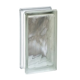 Attirant SEVES Nubio Clear Wave Glass Block (Common: 8 In H X 4