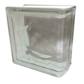 seves nubio clear wave glass block common 8 in h x 8 - Glass Blocks Lowes