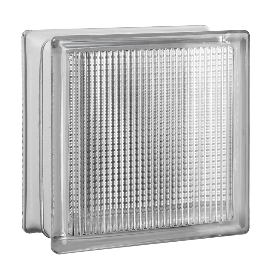 SEVES Glass Block 8-Pack Glass Block (Common: 8-in H x 8-in W x 4-in D; Actual: 7.75-in H x 7.75-in W x 3.875-in D)