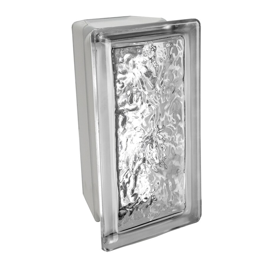 SEVES Glass Block 4-Inch Glass Block (Common: 8-in H x 4-in W x 4-in D; Actual: 7.75-in H x 3.75-in W x 3.875-in D)
