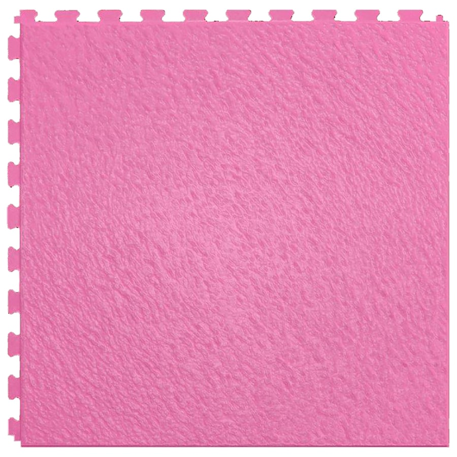 Perfection Floor Tile Lvt 6-Piece 20-in x 20-in Pink Floating Slate Luxury Commercial/Residential Vinyl Tile
