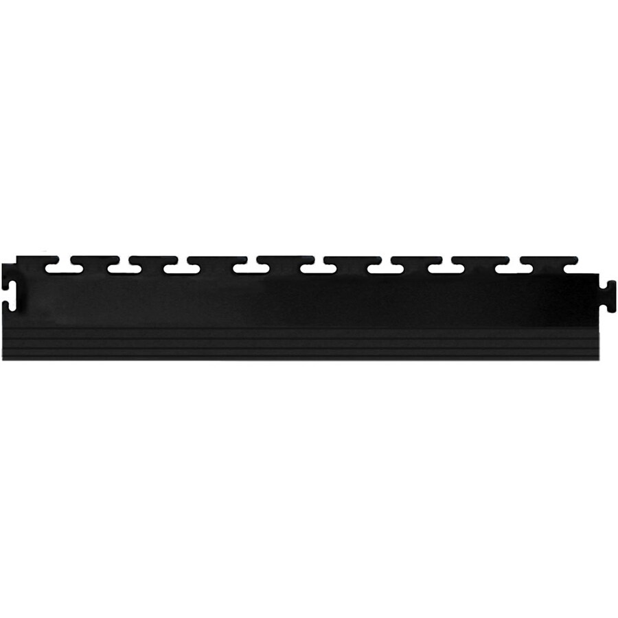 Blue Hawk 4-Pack 2.5-in x 20-in Black Loose Lay PVC Plastic Tile