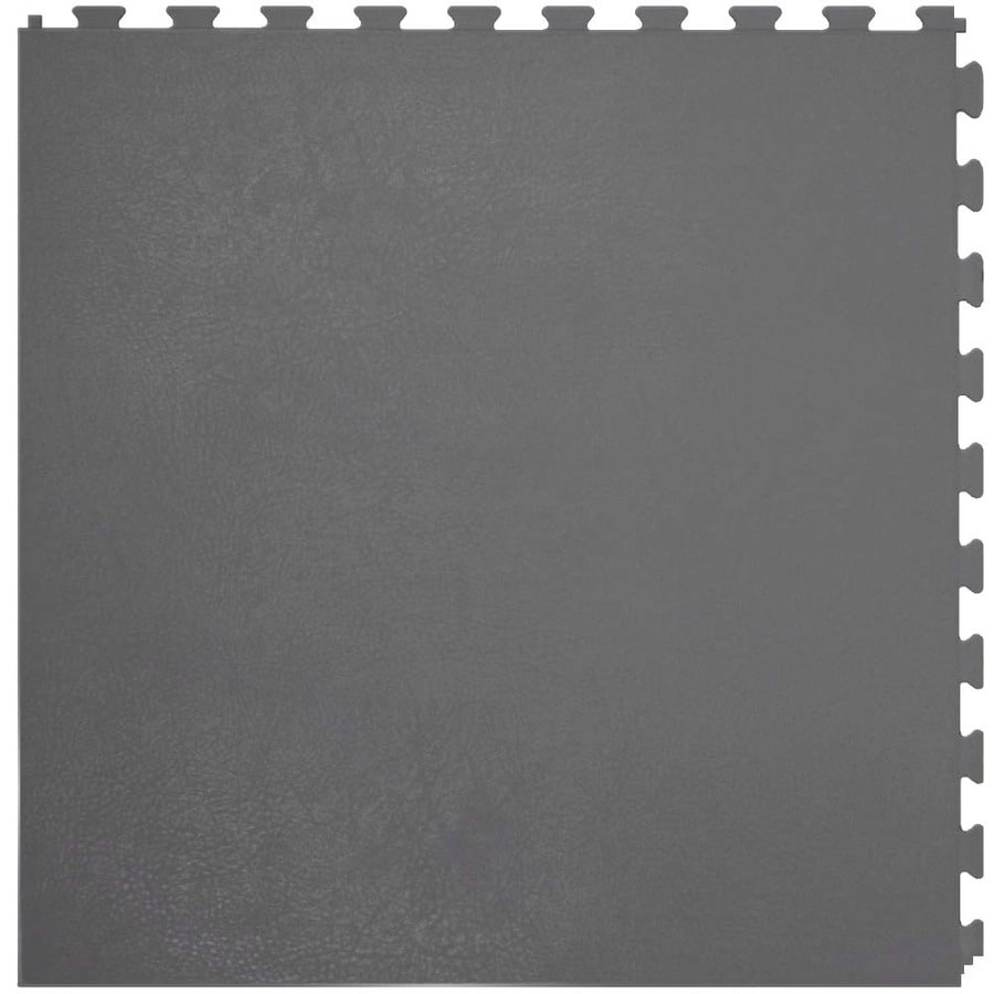 Amazing Perfection Floor Tile 6 Piece 20 In X 20 In Dark Gray Leather Great Pictures