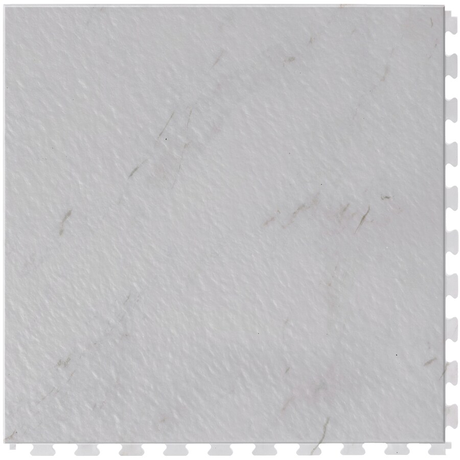 Perfection Floor Tile 6-Piece 20.5-in x 20.5-in White Marble Slate Garage Floor Tile