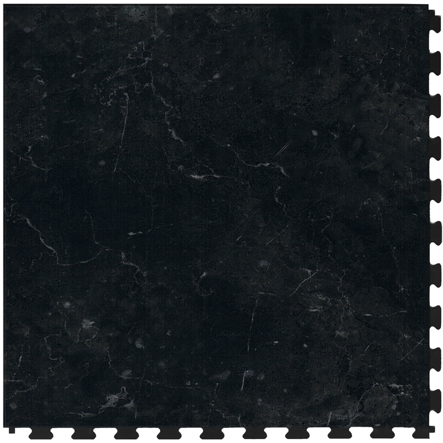Perfection Floor Tile 6-Piece 20.5-in x 20.5-in Cambrian Black Slate Garage Floor Tile