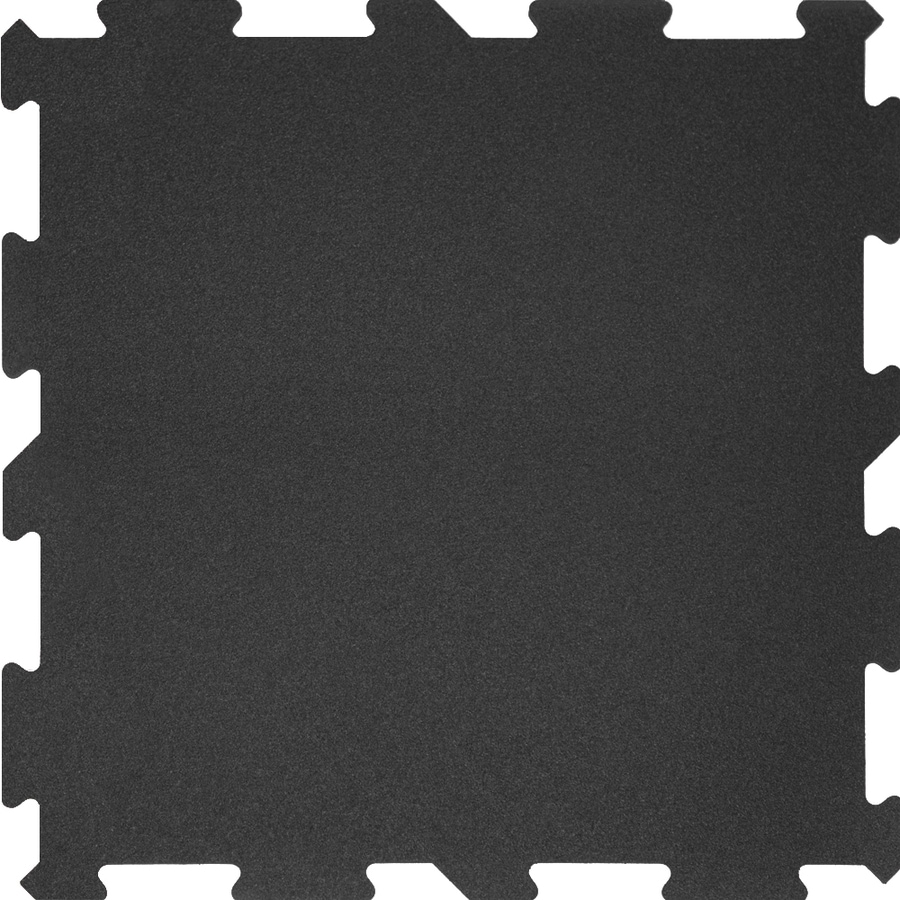 shop perfection floor tile 6-pack 18-in x 18-in black loose lay