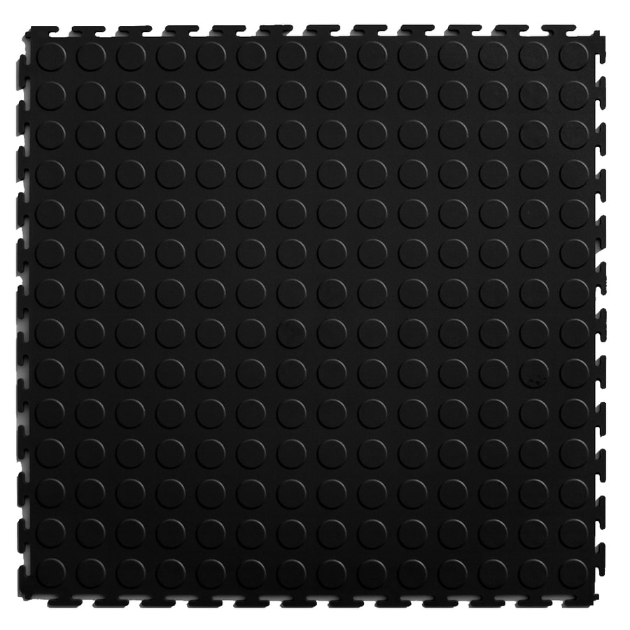 Blue Hawk 20 5 in x 20 5 in Black Loose Lay Coin PVC Plastic Tile. Shop Multipurpose Flooring at Lowes com